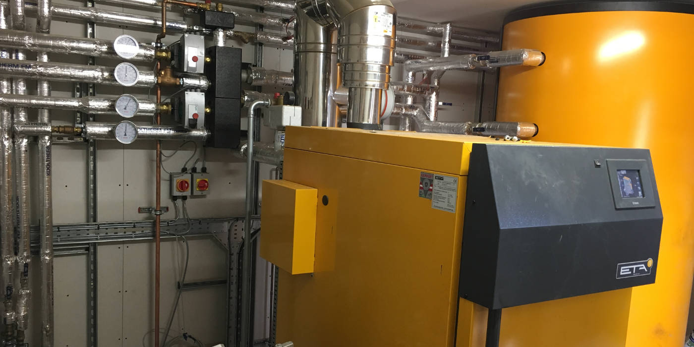 70kw biomass pellet boiler we have a service contract on